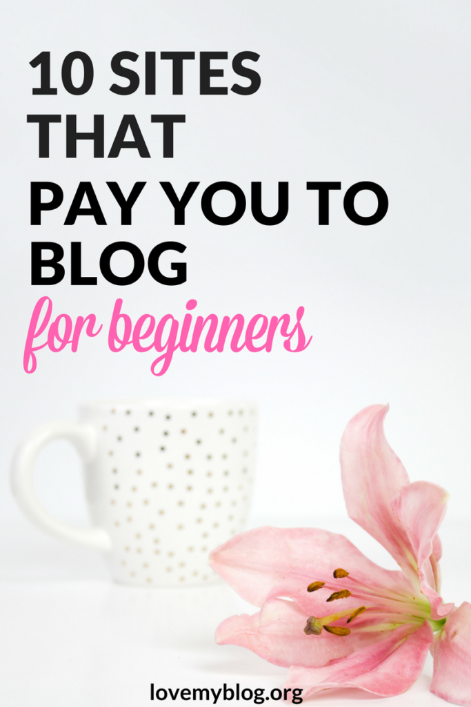 10 sites that pay you to blog.